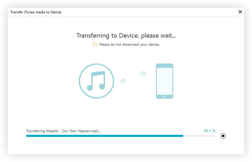 transferring itunes library to device